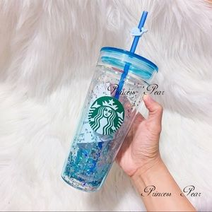 Starbucks Korea Glitter Whale Glass Tumbler